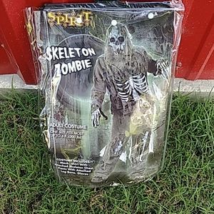 Skeleton Zombie Halloween Costume